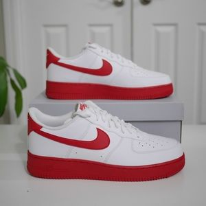 Nike Air Force 1 Low White University Red size 13
